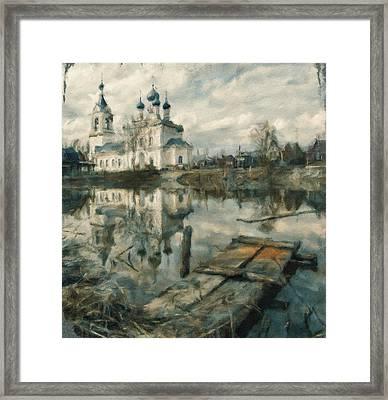 Church On River 02 Framed Print by Yury Malkov