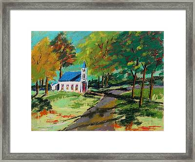 Church On The Bend Landscape Framed Print