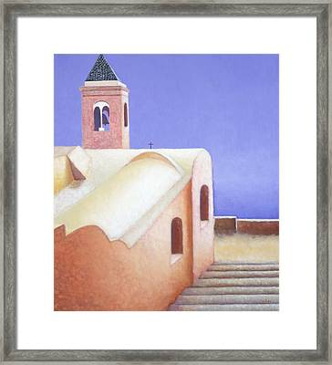 Church On The Coast Framed Print by Gloria Cigolini-DePietro