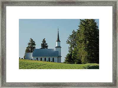 Church On The Hill Framed Print