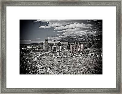 Church On The Hill Framed Print by Jill Smith