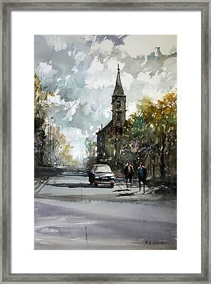 Church On The Hill Framed Print by Ryan Radke