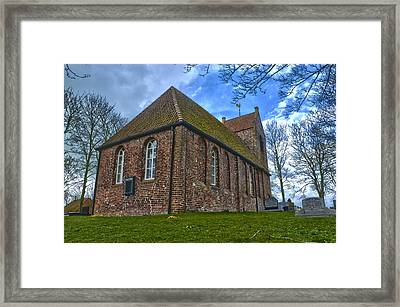 Church On The Mound Of Oostum Framed Print