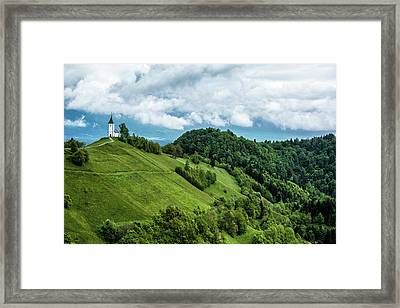 Church On The Mountain Framed Print by Lindley Johnson