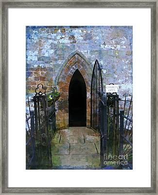 Church Open Framed Print by Mindy Newman