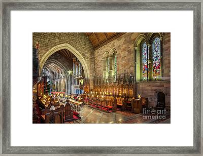 Church Organist Framed Print by Adrian Evans