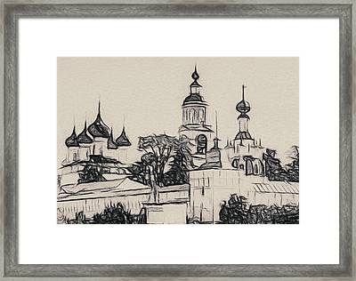 Church Outline Framed Print by Yury Malkov