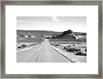 Church Rock  Framed Print by Juls Adams