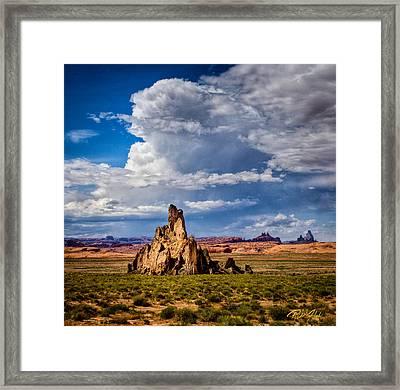 Church Rock Thunderhead Framed Print