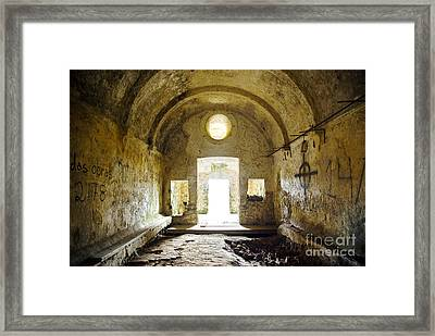 Church Ruin Framed Print by Carlos Caetano