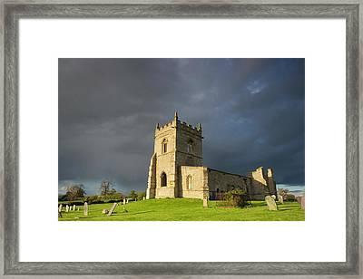 Church Ruins At Cropwell Bishop Framed Print by Wendy Chapman