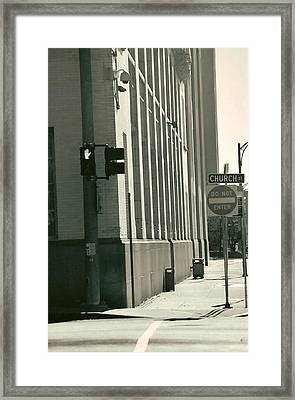 Church St. Framed Print