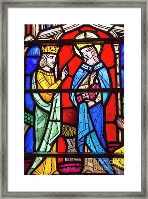 Church Stained Glass Window Framed Print by Juli Scalzi