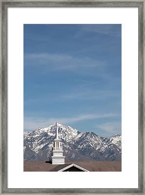 Church Steeple 4 Framed Print by Steve Ohlsen