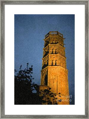 Framed Print featuring the photograph Church Steeple by Jean Bernard Roussilhe