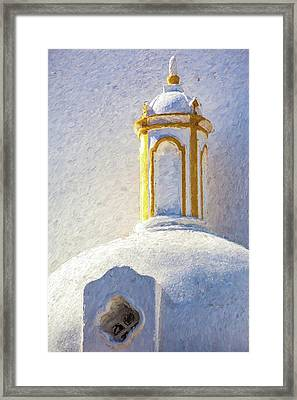 Church Steeple Of Portugal Framed Print by David Letts