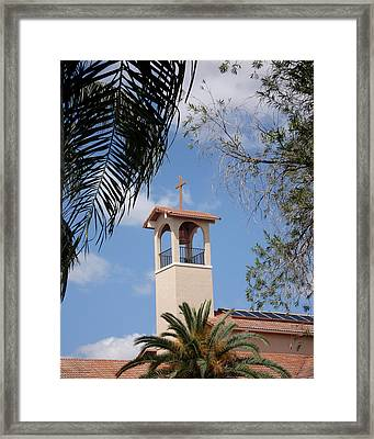 Framed Print featuring the photograph Church Steeple by Rosalie Scanlon