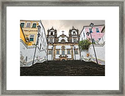 Framed Print featuring the photograph Church Steps by Kim Wilson