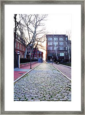 Church Street Cobblestones - Philadelphia Framed Print by Bill Cannon