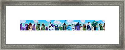Framed Print featuring the painting Church Street by Mary Carol Williams
