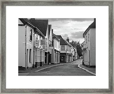 Church Street Sawbridgeworth In Black And White Framed Print