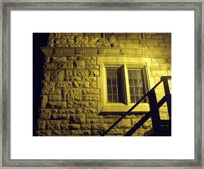 Church Window Framed Print by Angela Christine