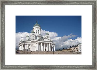 Framed Print featuring the pyrography Church  by Yury Bashkin