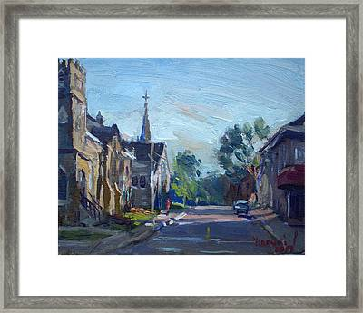 Churche In Downtown Georgetown On Framed Print
