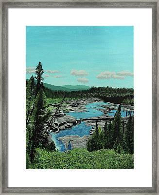 Churchill River Framed Print