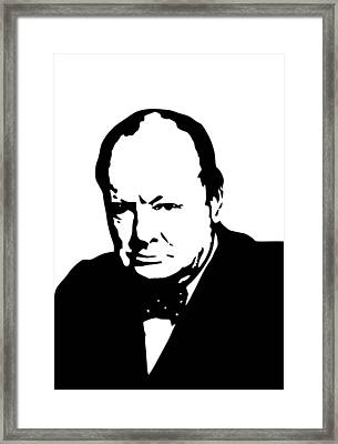 Churchill Framed Print by War Is Hell Store