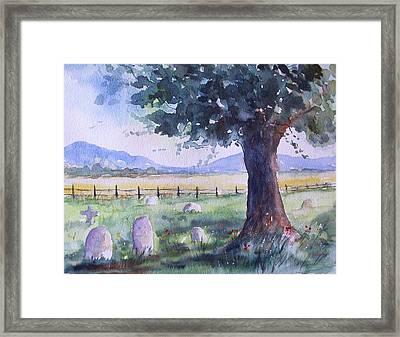Churchyard Severn Stoke Framed Print by Susan Ryder