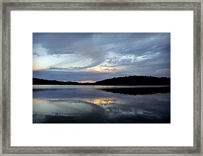 Framed Print featuring the photograph Churning Clouds At Sunrise by Chris Berry