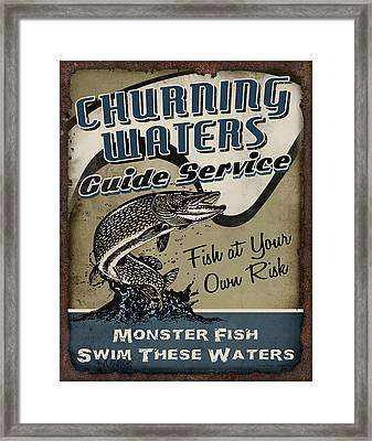 Churning Waters Guide Service Framed Print by JQ Licensing