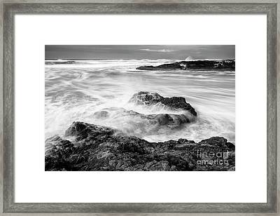 Churning Waves Framed Print by Masako Metz