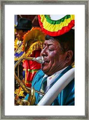 Chutillos Fiesta 25 Framed Print by Skip Hunt