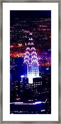 Chyrsler Lights Framed Print by Az Jackson