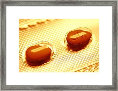 Cialis Pills Framed Print by Pasieka