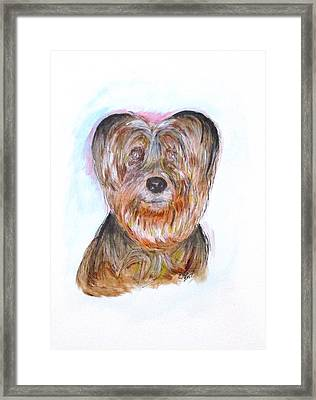 Ciao I'm Viki Framed Print by Clyde J Kell