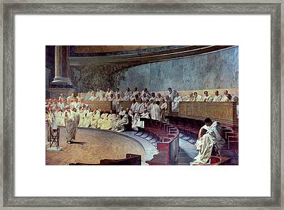 Cicero Framed Print by Cesare Maccari