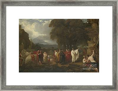 Cicero Discovering The Tomb Of Archimedes Framed Print by Benjamin West