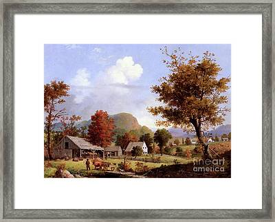 Cider Pressing, 1855 Framed Print