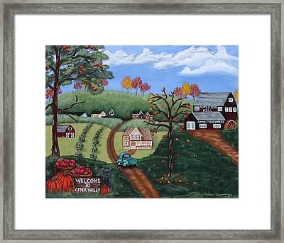 Cider Valley Framed Print