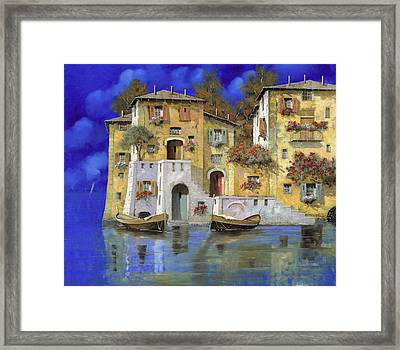 Cieloblu Framed Print by Guido Borelli