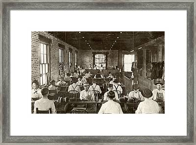 Cigar Factory, 1909 Framed Print