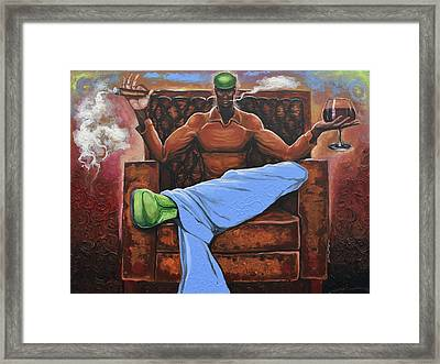Cigar Lounge Framed Print by The Art of DionJa'Y