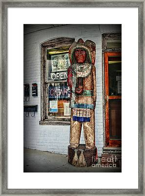 Framed Print featuring the photograph Cigar Store Indian by Paul Ward