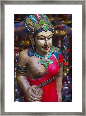 Cigar Store Indian Princess Framed Print by Garry Gay