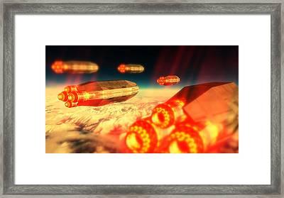 Cigar Ufo By Raphael Terra Framed Print