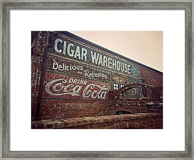 Cigar Warehouse Greenville Sc Framed Print