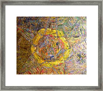 Cigar Wrapper Mandala Framed Print by Mindy Newman
